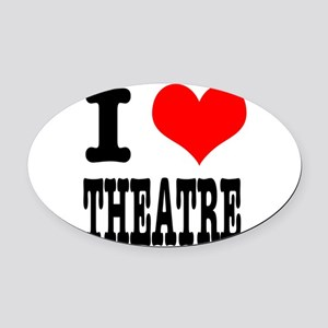 THEATRE Oval Car Magnet