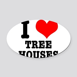 TREE HOUSES Oval Car Magnet