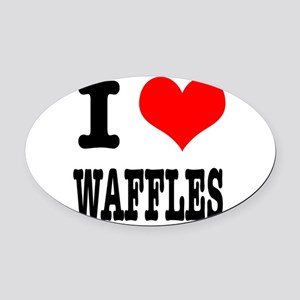 WAFFLES Oval Car Magnet