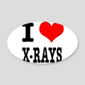 XRAYS Oval Car Magnet
