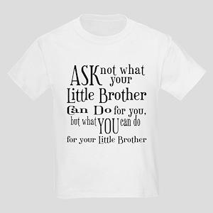 Ask Not Little Brother Kids Light T-Shirt