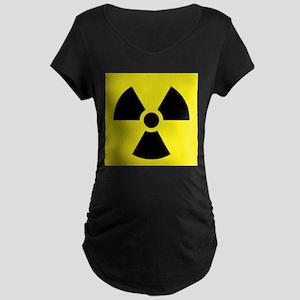 Radioactive Symbol Maternity Dark T-Shirt