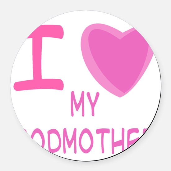 godmother girl.png Round Car Magnet