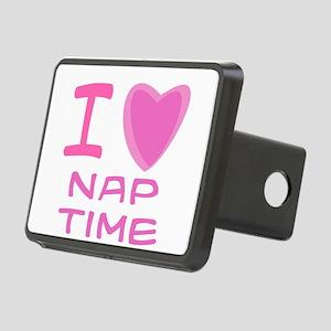 nap time girl Rectangular Hitch Cover