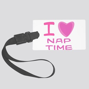 nap time girl Large Luggage Tag
