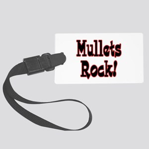 mullets rock Large Luggage Tag