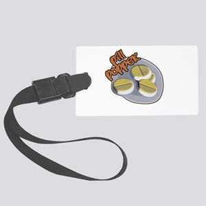pill popper Large Luggage Tag
