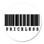 priceless.jpg Round Car Magnet