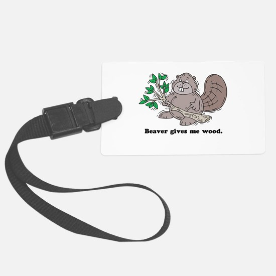 beaver gives me wood.psd Luggage Tag