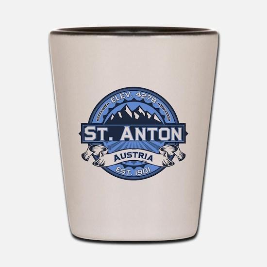 St. Anton Blue Shot Glass