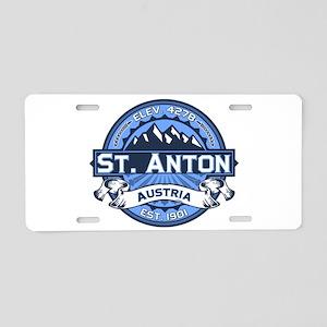 St. Anton Blue Aluminum License Plate