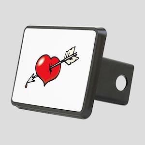 arrow through heart Rectangular Hitch Cover
