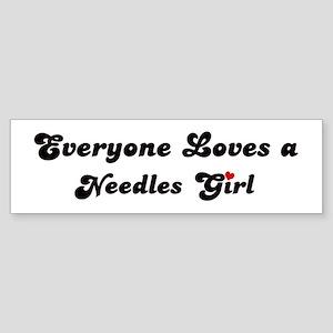 Needles girl Bumper Sticker