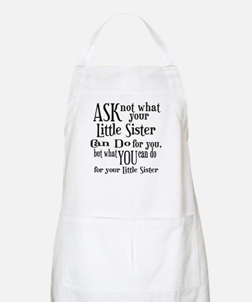 Ask Not Little Sister Apron