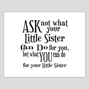 Ask Not Little Sister Small Poster