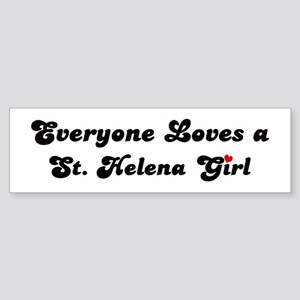 St Helena girl Bumper Sticker