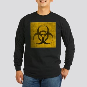 Vintage Biohazard Long Sleeve Dark T-Shirt