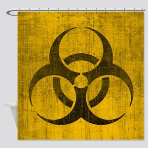 Vintage Biohazard Shower Curtain
