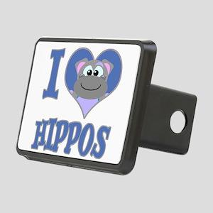 love hippos Rectangular Hitch Cover