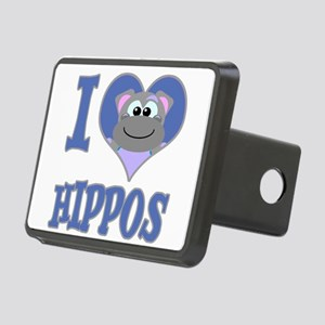 love hippos.png Rectangular Hitch Cover