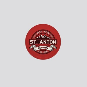 St. Anton Red Mini Button