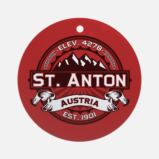 St. Anton Red Ornament (Round)