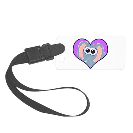 elephant heart.png Small Luggage Tag