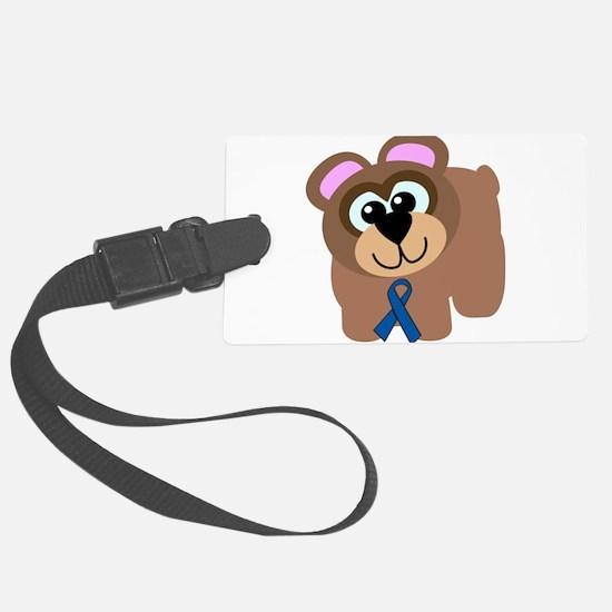 blue ribbon bear copy.png Luggage Tag