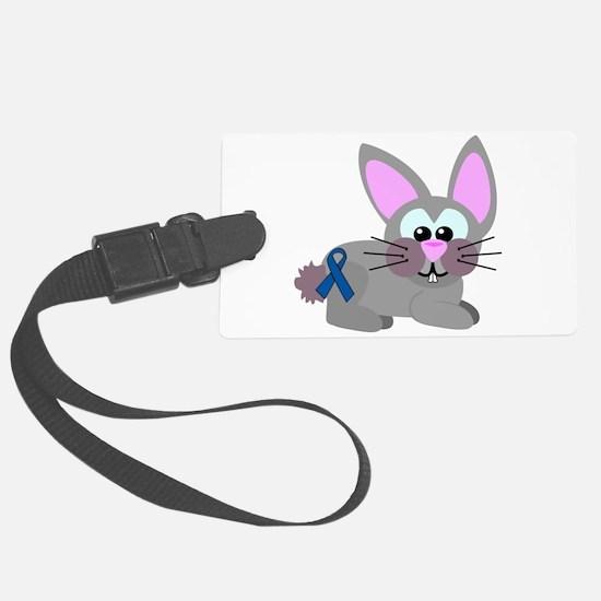 blue ribbon bunny rabbit copy.png Luggage Tag