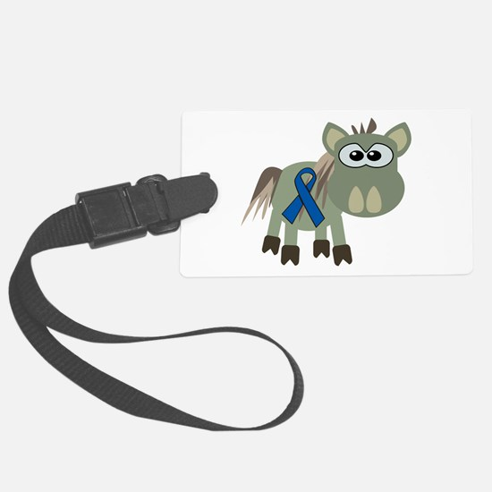 blue ribbon donkey copy.png Luggage Tag