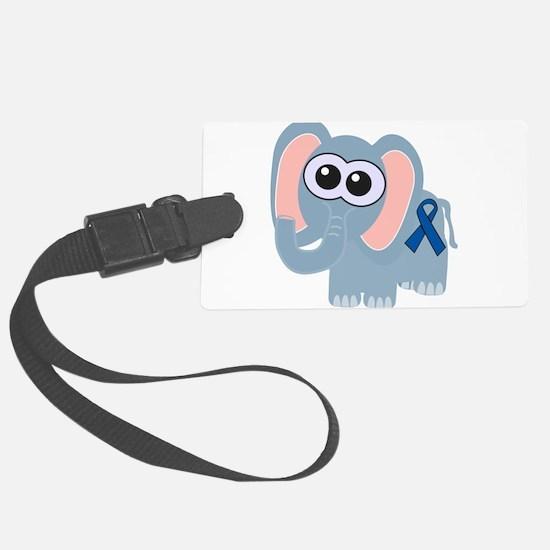 blue ribbon elephant copy.png Luggage Tag
