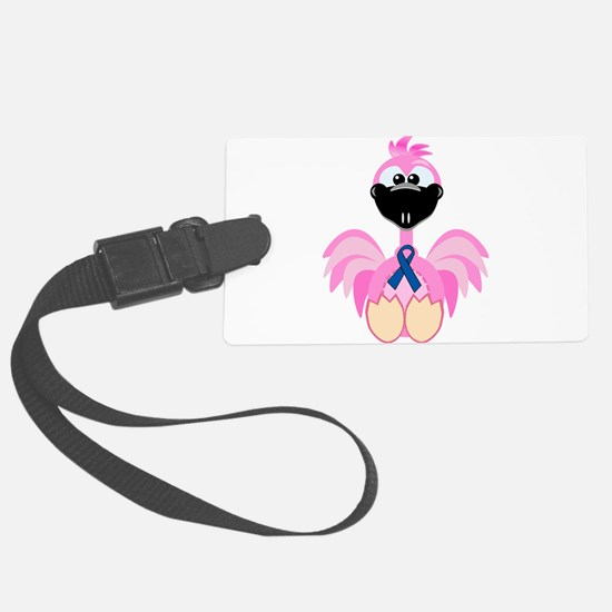blue ribbon flamingo copy.png Luggage Tag