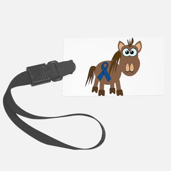blue ribbon horse copy.png Luggage Tag