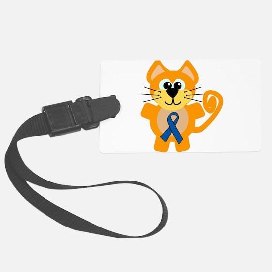 blue ribbon orange kitty cat copy.png Luggage Tag