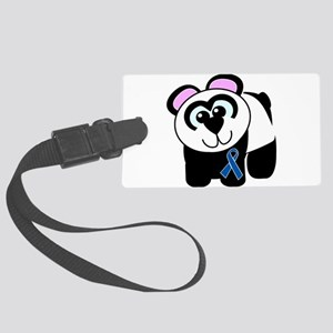 blue ribbon panda copy Large Luggage Tag