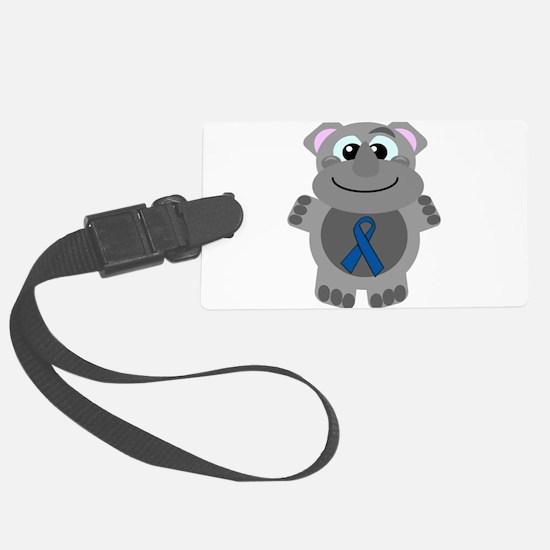 blue ribbon rhino copy.png Luggage Tag