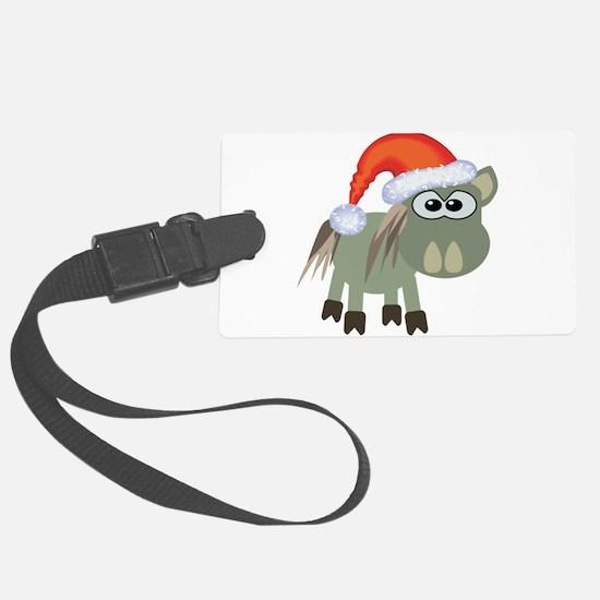 donkey santa.png Luggage Tag
