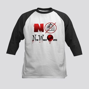NO New World Order Kids Baseball Jersey