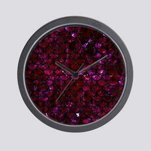 SCALES3 BLACK MARBLE & BURGUNDY MARBLE Wall Clock