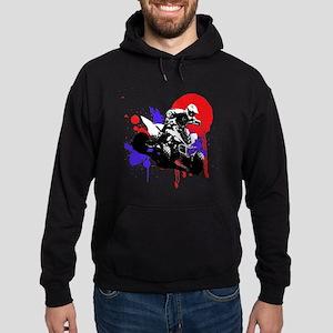 Red Splatter ATV Hoodie (dark)