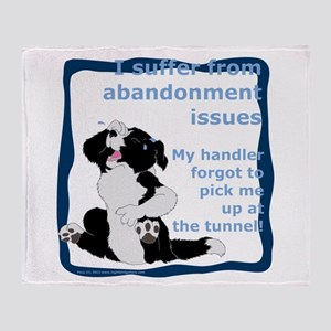 Abandonment Issues Throw Blanket