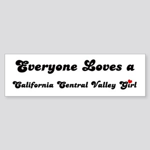 California Central Valley gir Bumper Sticker