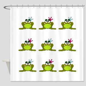 Frog Prince and Princess Shower Curtain
