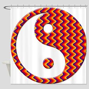 Zig Zag Yin Yang Shower Curtain