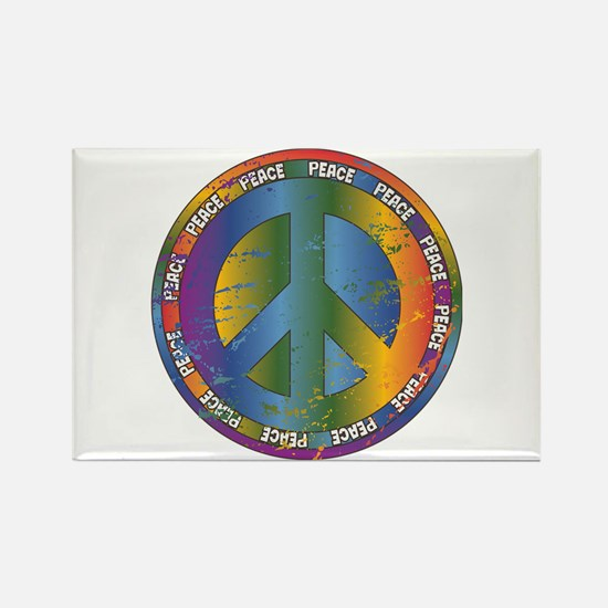 Big Peace Symbol Rectangle Magnet