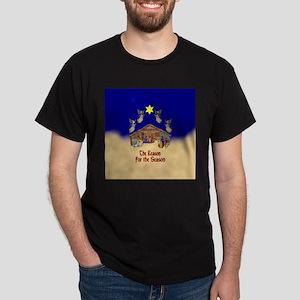 Square or Round Reason for the Season Dark T-Shirt