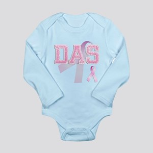 DAS initials, Pink Ribbon, Long Sleeve Infant Body