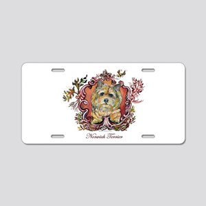 Norwich Terrier Vintage Aluminum License Plate
