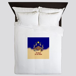 Square or Round Reason for the Season Queen Duvet