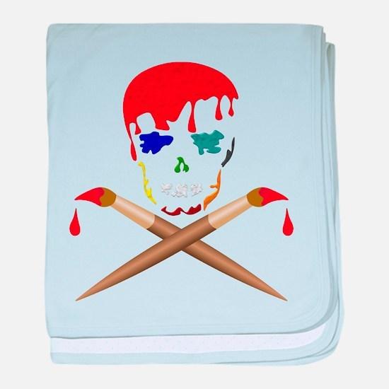 Artist Skull & X Bones baby blanket
